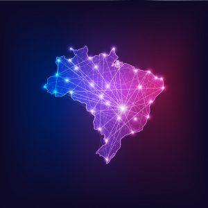mapa Brasil conectado